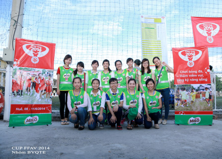 Trinh and her fellow volunteers at the FFAV cup
